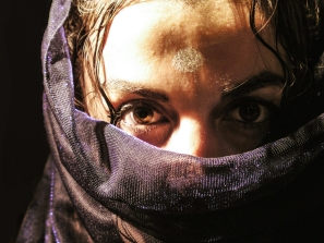 Arab woman with veil